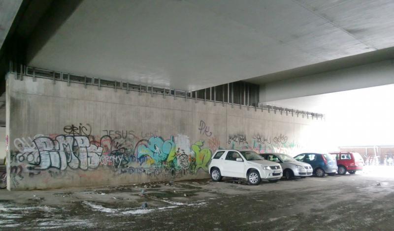 Vor der Umgestaltung - Donnersbergerbrücke