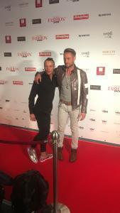 Emil Kusmirek & Nico Schwanz auf dem roten Teppich